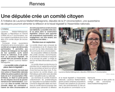 Ouest France avril 2019