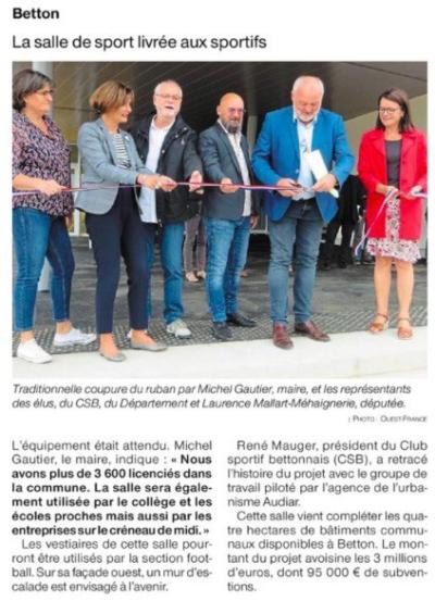 Ouest France Vendredi 6 septembre 2019