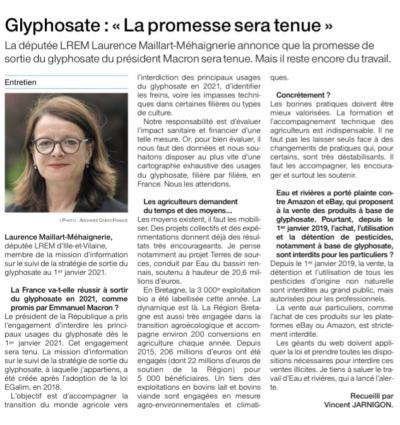 Ouest France 14 novembre 2019